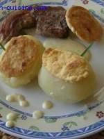 Côtes d'agneau à la crème de brie