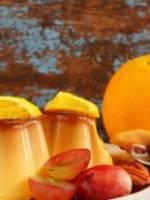 Cr�me au caramel d'oranges