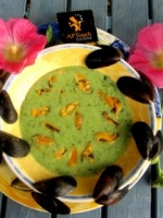 Crème de bouchot persil simple et trémières