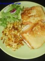 Croque Monsieur V�g�tarien et frites de panais