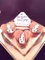 Cupcakes papillons au chocolat.