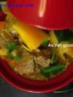 Curry d'agneau exotique