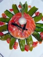Enrubann� de saumon fum�