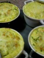 Flan de courgettes au parmesan et curry