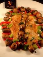 Filets de st pierre rotis et champignons de paille