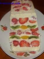 Fruits à la crème d\'amandes