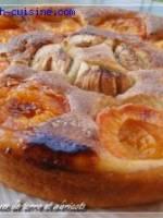 G�teau pommes de terre aux abricots