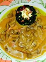 Jambon à l'os et crème au Banyuls