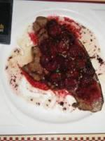 Le foie de veau po�l� aux framboises