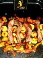 Les Tortillons d'aiguillettes de  canard grill�s