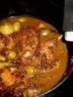 Les cuisses de canard brais�es aux olives