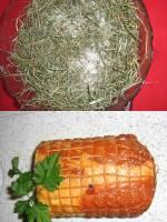Longe de porc en cro�te de Foin