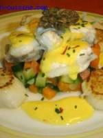 Lotte au safran et petits légumes