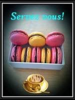 Macarons aux fruits rouges et chocolats blancs...