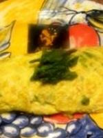 Omelette d\\\'or de marans et asperges sauvages