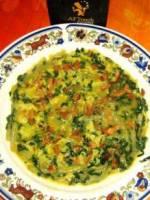 Omelette plate aux c�tes et verts de blettes