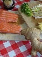 Pav�s de saumon au gingembre