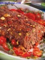 Pain de viande grec aux poivrons