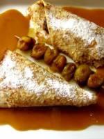 Pannequets fourrés et caramel demi sel