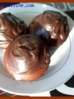 Petits cakes au chocolat et leur gla�age