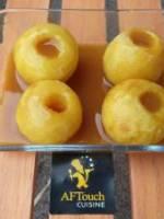 Pommes au four et sa sauce caramel au beurre salé