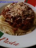 Spaghetti à MA bolognaise