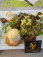 Salade de ch�vre chaud