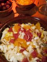 Orange, grapefruit and red onion salad