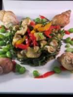 Salade tiède de christes-marines et bulots