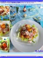 Saumon cru marin� � la tahitienne