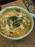 Soupe Thaï poulet citronnelle et coco