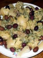 Tajine de poulet aux olives et citron confits