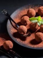 Tarte au chocolat et truffettes