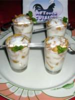 Verrines de yaourt et noix de coco
