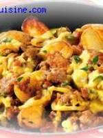 Viande hach�e et pommes de terre