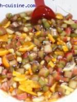 confitures de rhubarbe-orange-citron