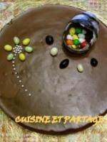 G�teau croustillant mousse chocolat au lait et chocolat noir
