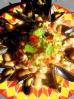 Salade tiède de soissons à la charentaise