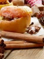 pommes au four a la vanille et aux epices