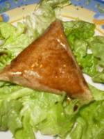 Samossa ch�vre, miel et balsamique